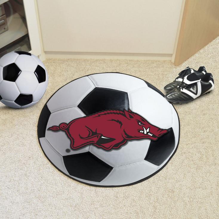 "27"" University of Arkansas Soccer Ball Round Mat"