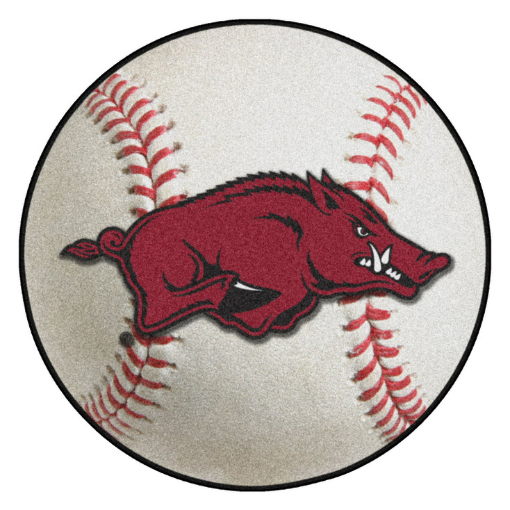"27"" University of Arkansas Baseball Style Round Mat"