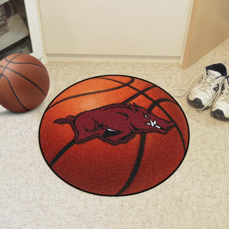 "27"" University of Arkansas Basketball Style Round Mat"