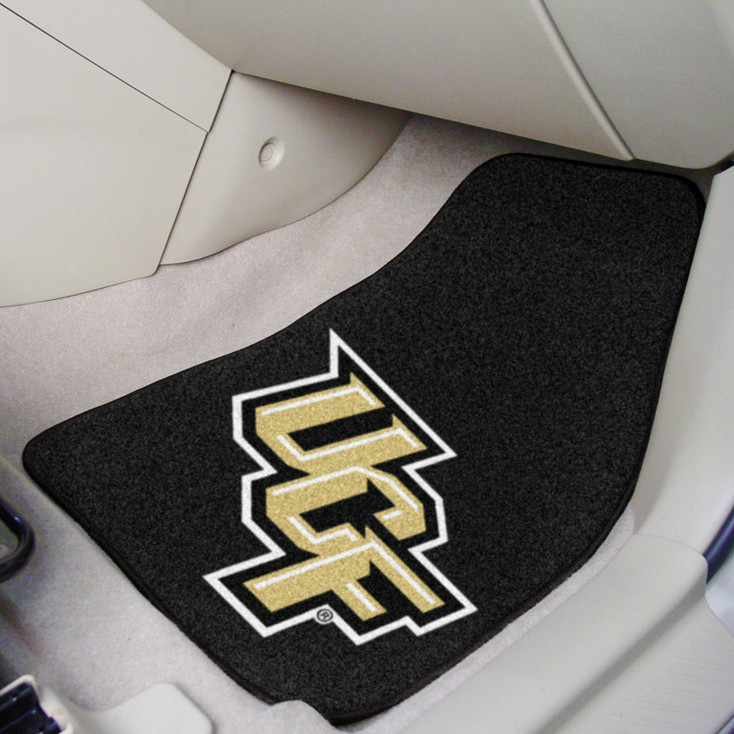 University of Central Florida Black Carpet Car Mat, Set of 2