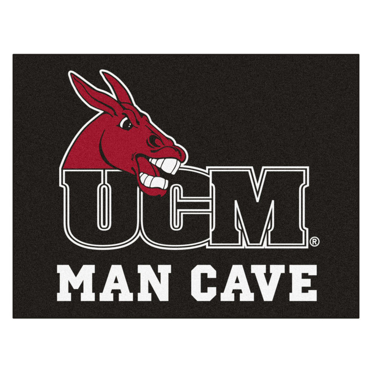 "33.75"" x 42.5"" University of Central Missouri Man Cave All-Star Black Rectangle Mat"