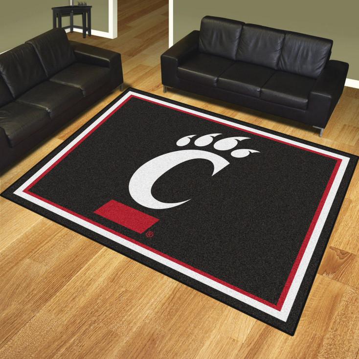 8' x 10' University of Cincinnati Black Rectangle Rug