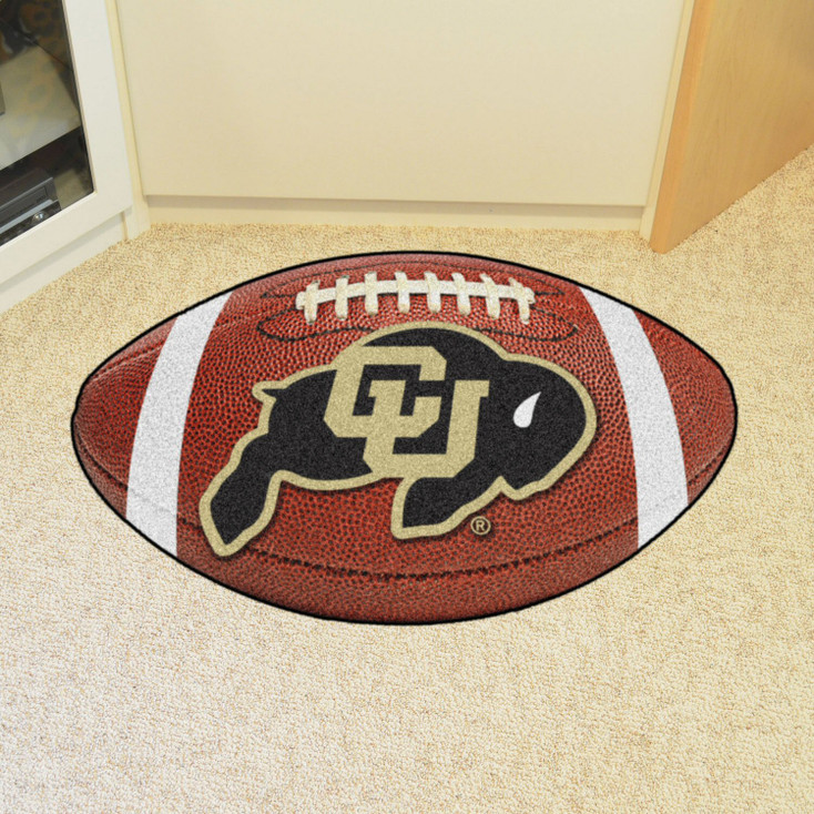 "20.5"" x 32.5"" University of Colorado Football Shape Mat"