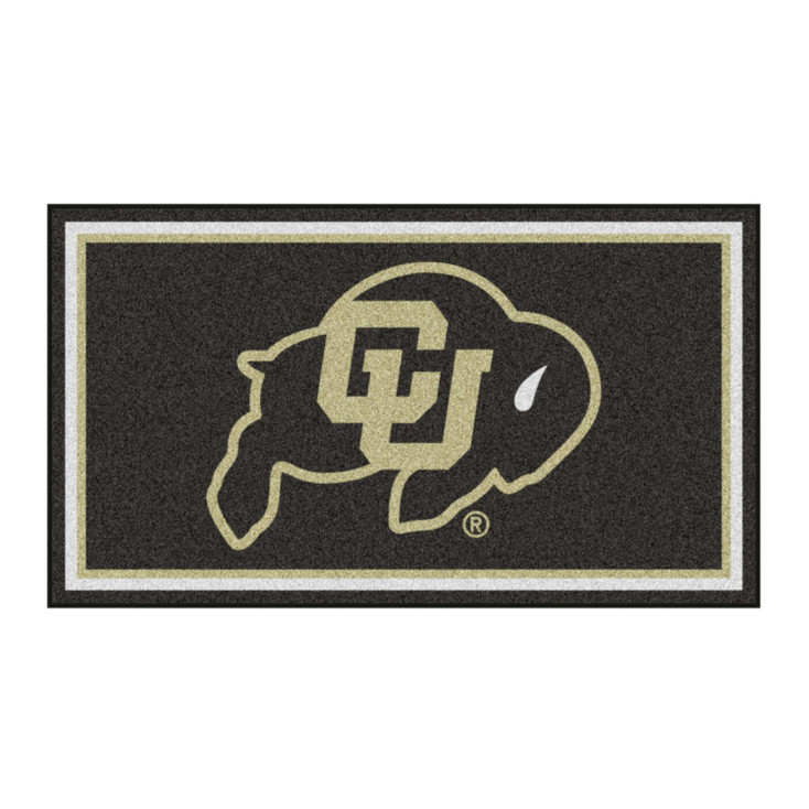 3' x 5' University of Colorado Black Rectangle Rug