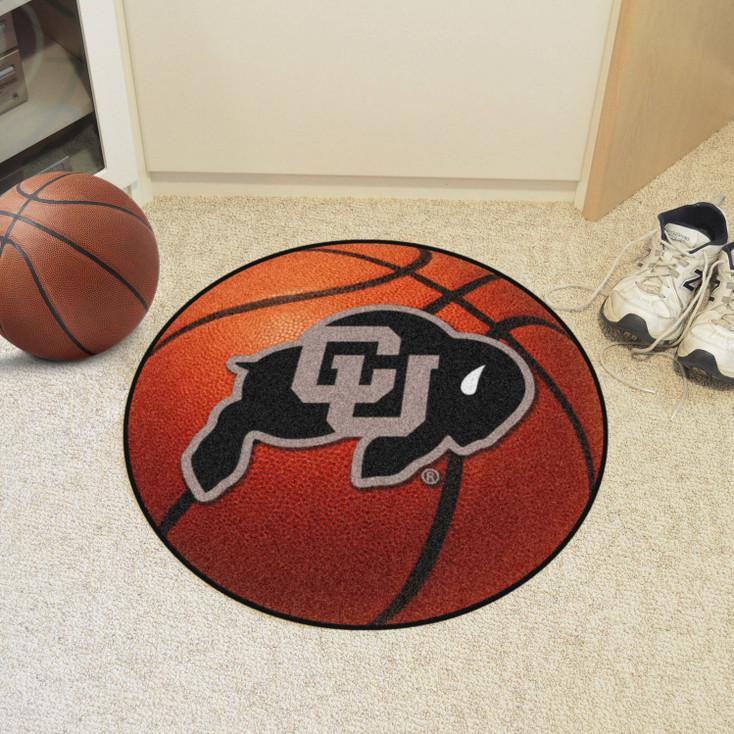 "27"" University of Colorado Basketball Style Round Mat"