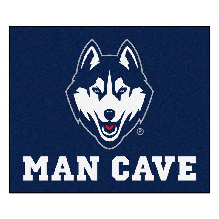 "59.5"" x 71"" University of Connecticut Man Cave Tailgater Navy Blue Rectangle Mat"
