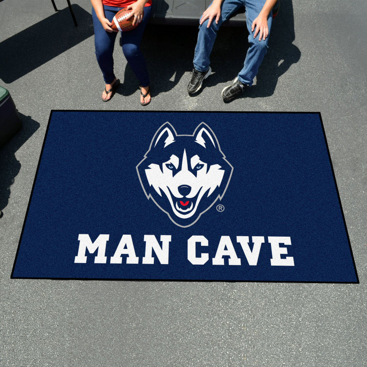 "59.5"" x 94.5"" University of Connecticut Man Cave Navy Blue Rectangle Ulti Mat"