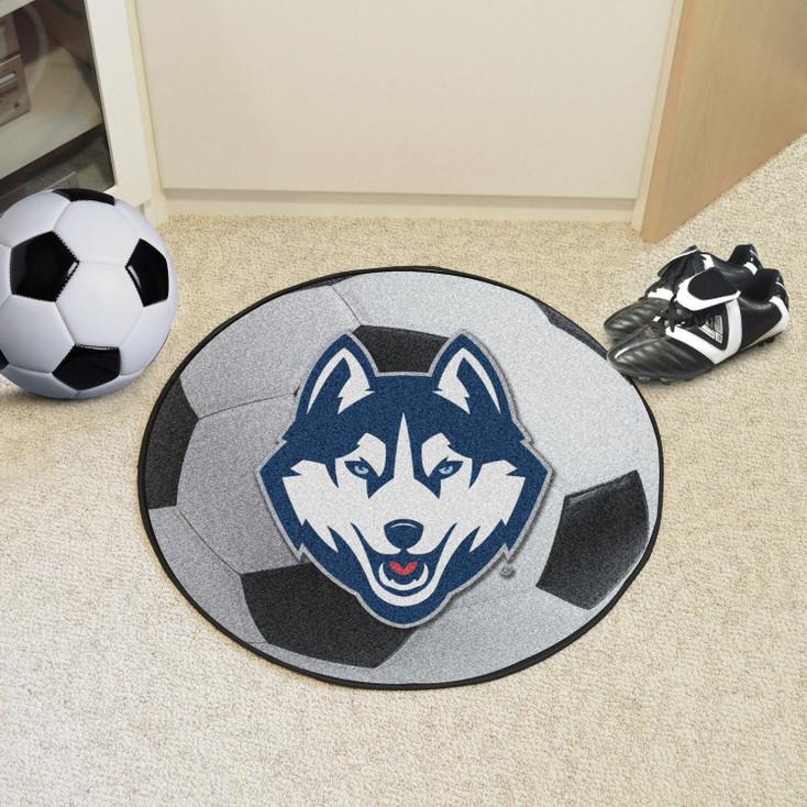 "27"" University of Connecticut Soccer Ball Round Mat"