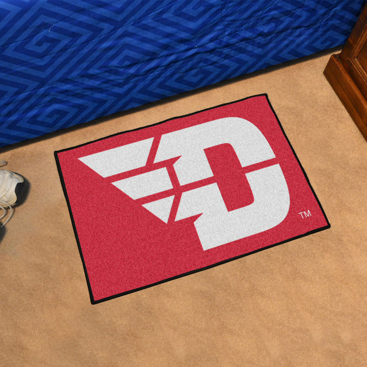"19"" x 30"" University of Dayton Red Rectangle Starter Mat"