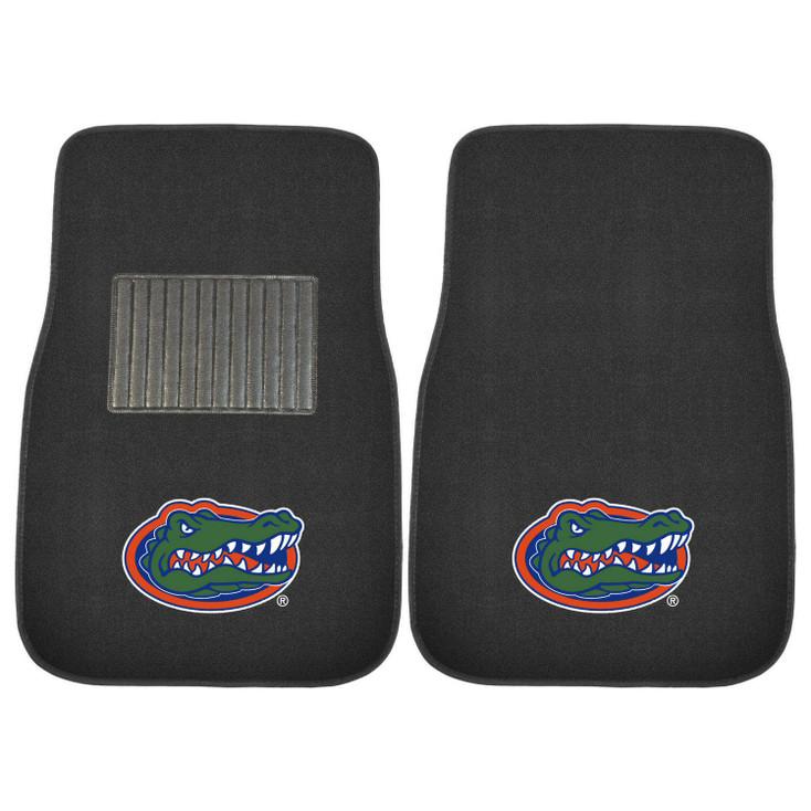 University of Florida Embroidered Black Car Mat, Set of 2