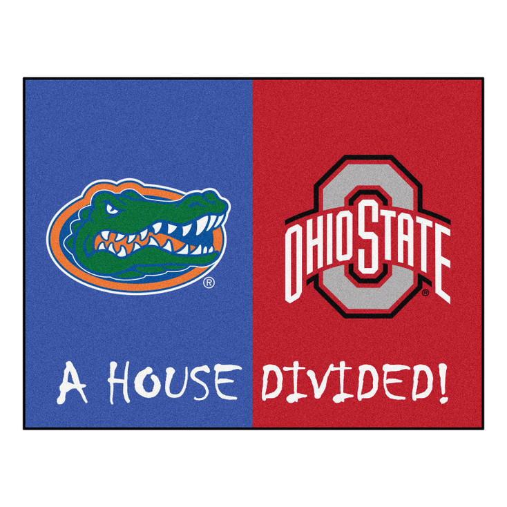 """33.75"""" x 42.5"""" Florida / Ohio State House Divided Rectangle Mat"""