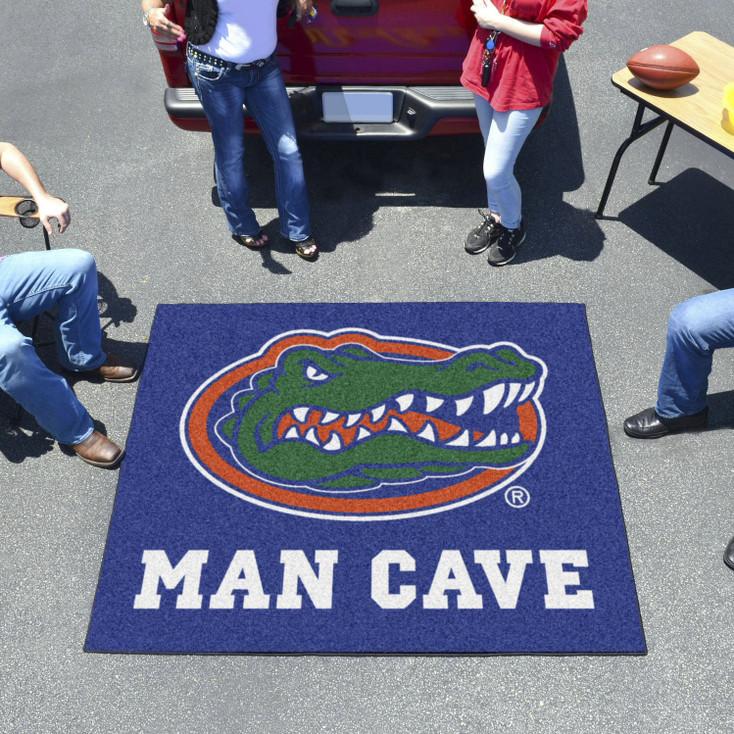 "59.5"" x 71"" University of Florida Gators Blue Man Cave Tailgater Rectangle Mat"