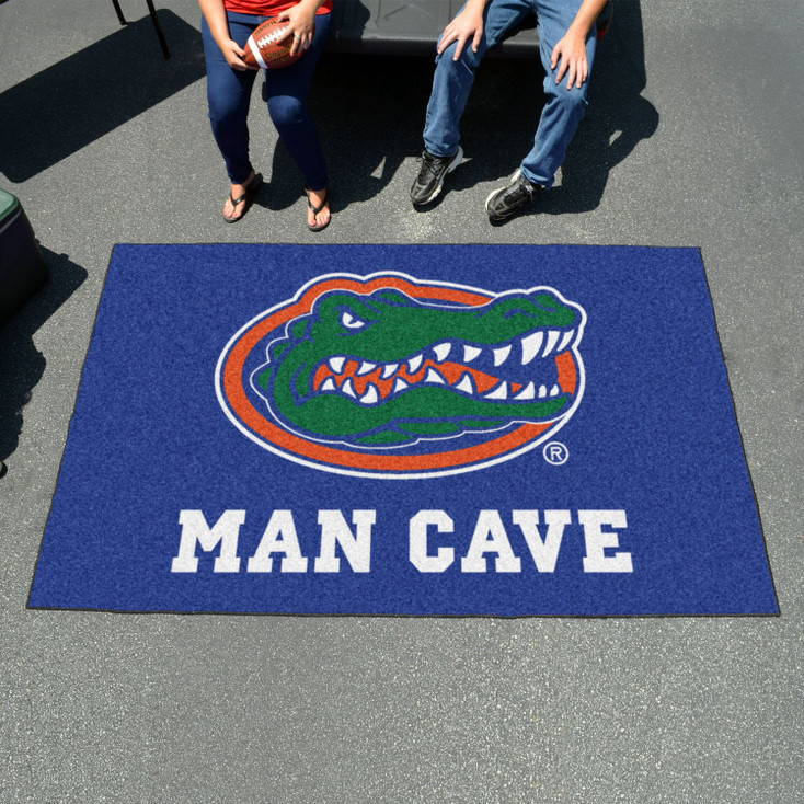 "59.5"" x 94.5"" University of Florida Gators Blue Man Cave Rectangle Ulti Mat"