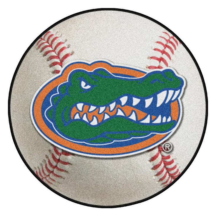 "27"" University of Florida Gators Baseball Style Round Mat"