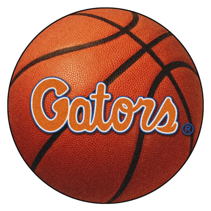 """27"""" University of Florida Orange Basketball Style Round Mat"""