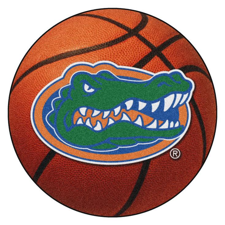 """27"""" University of Florida Gators Orange Basketball Style Round Mat"""