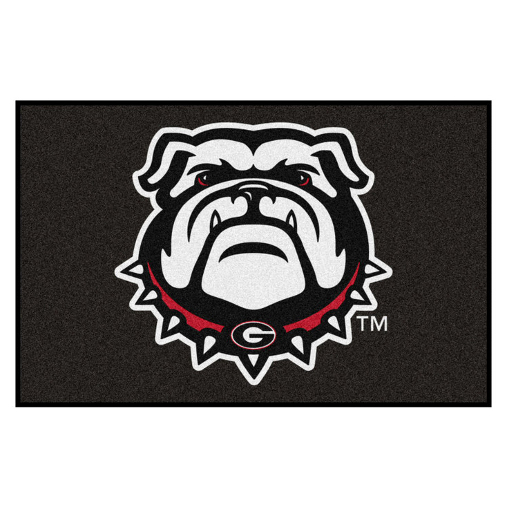 "19"" x 30"" University of Georgia Black Rectangle Starter Mat"