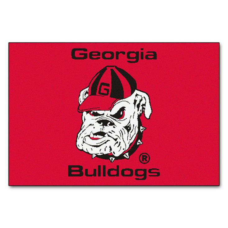 "19"" x 30"" University of Georgia Bulldogs Red Rectangle Starter Mat"
