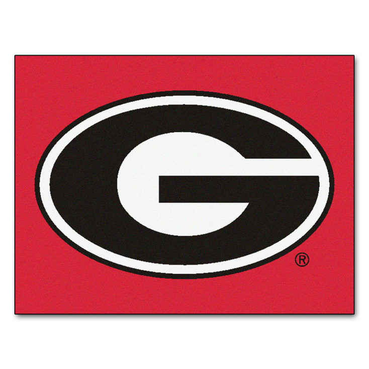 "33.75"" x 42.5"" University of Georgia All Star Red Rectangle Mat"