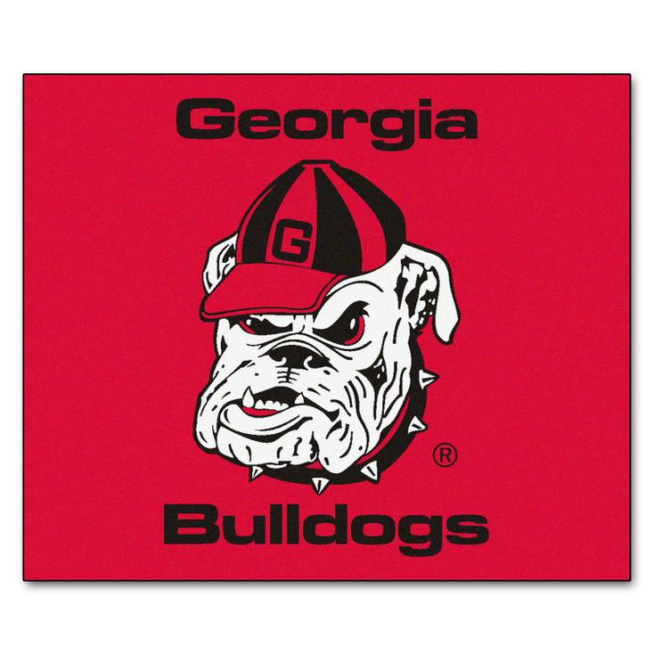 "59.5"" x 71"" University of Georgia Bulldog Logo Red Tailgater Mat"