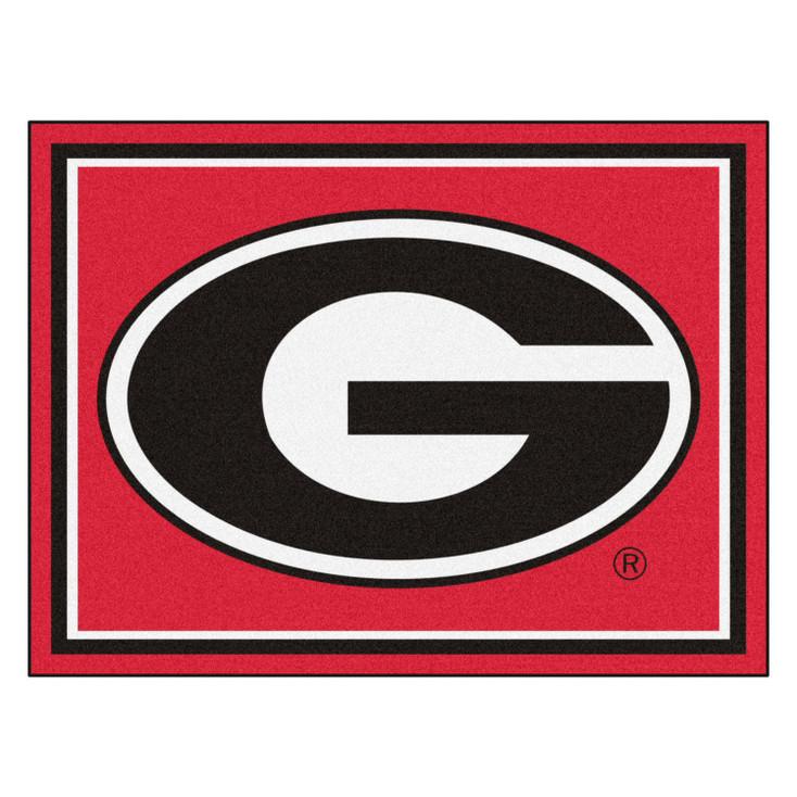 8' x 10' University of Georgia Red Rectangle Rug