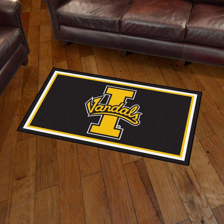 3' x 5' University of Idaho Black Rectangle Rug