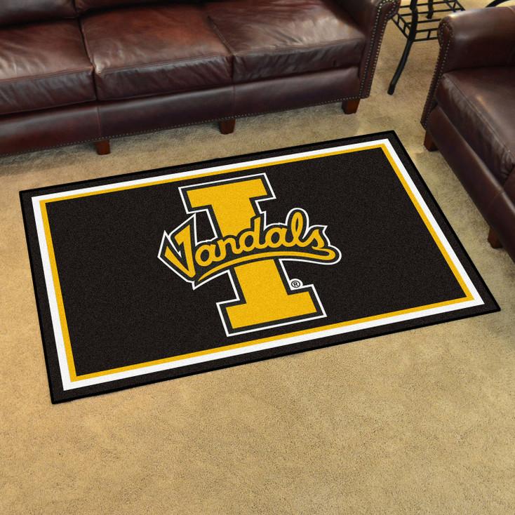 4' x 6' University of Idaho Black Rectangle Rug