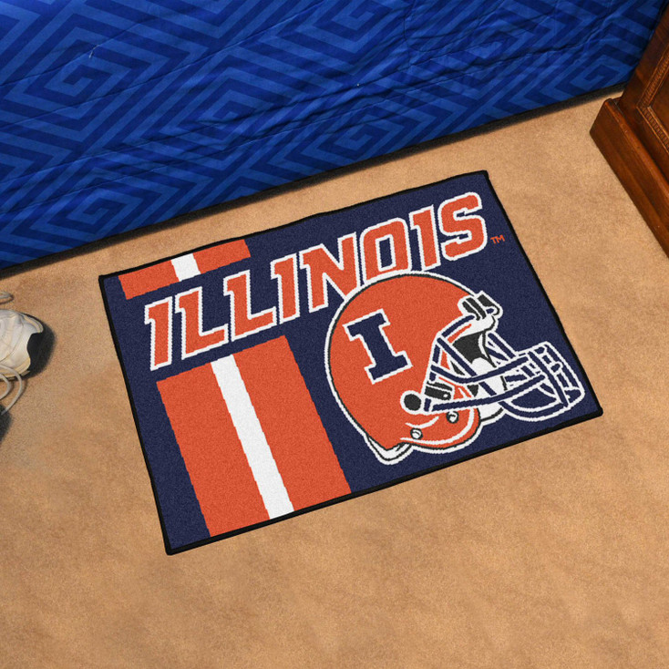 "19"" x 30"" University of Illinois Uniform Blue Rectangle Starter Mat"