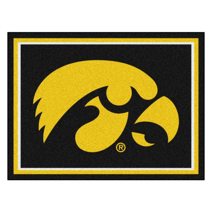 8' x 10' University of Iowa Black Rectangle Rug