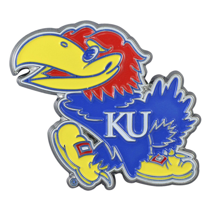 University of Kansas Blue Color Emblem, Set of 2