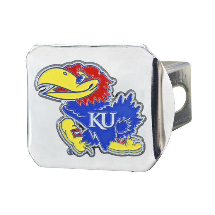 University of Kansas Color Hitch Cover - Chrome