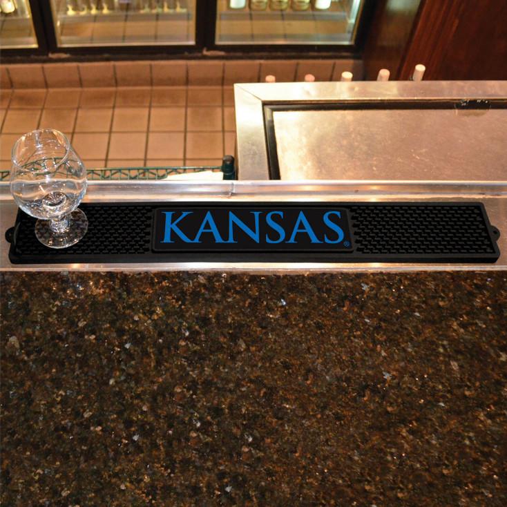 University of Kansas Vinyl Drink Mat