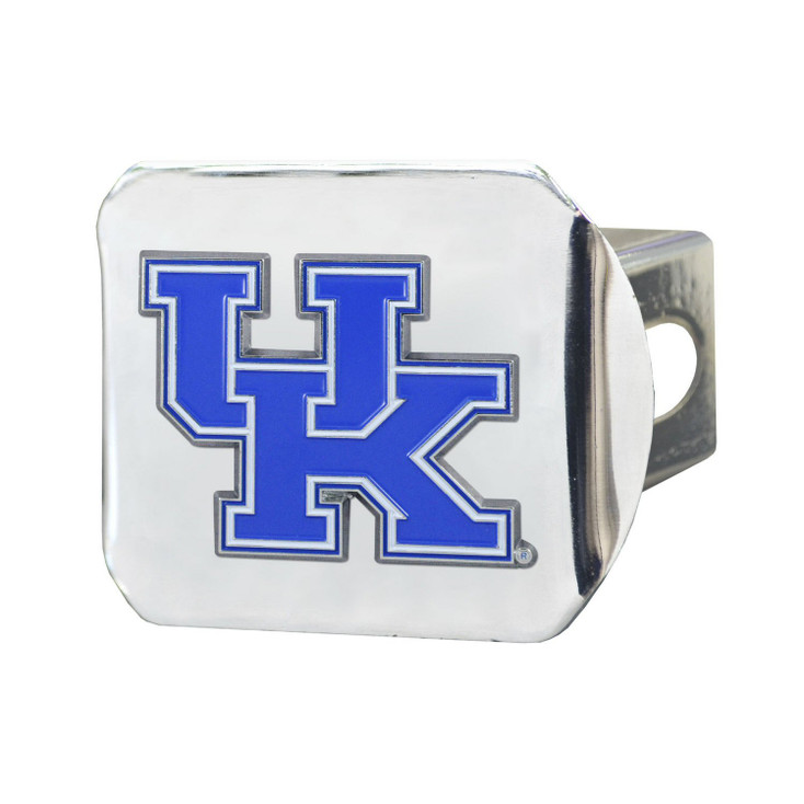 University of Kentucky Color Hitch Cover - Chrome