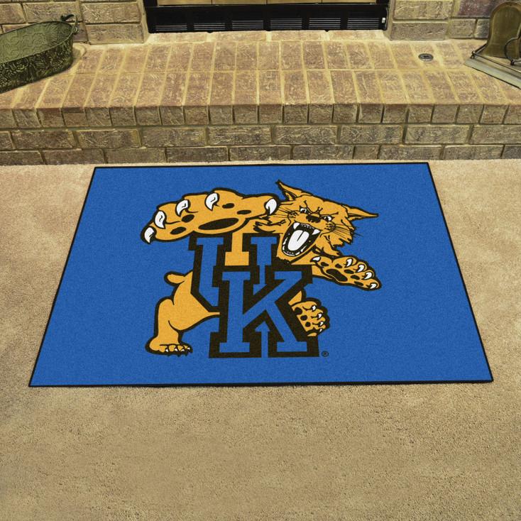 """33.75"""" x 42.5"""" University of Kentucky All Star Blue Rectangle Mat"""