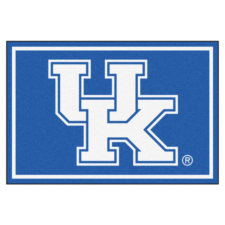 5' x 8' University of Kentucky UK Logo Blue Rectangle Rug