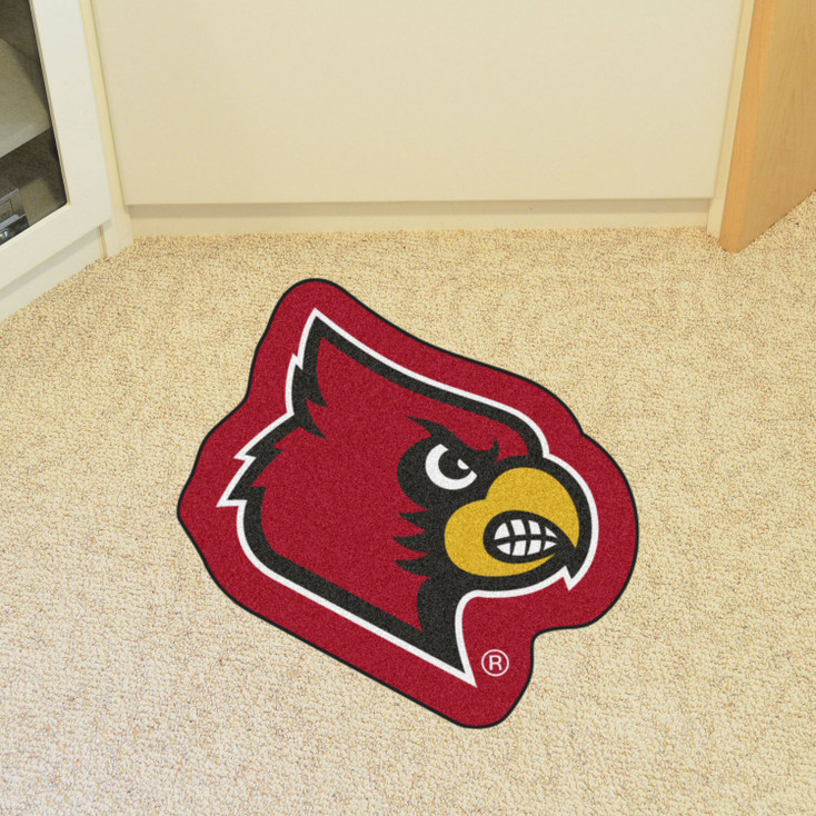 "University of Louisville Mascot Mat - ""Cardinal"" Logo"