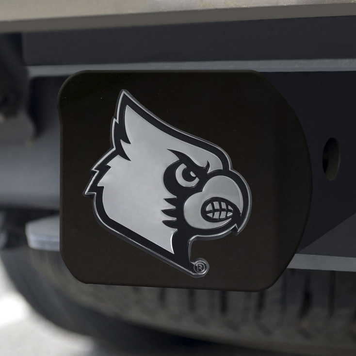 University of Louisville Hitch Cover - Chrome on Black