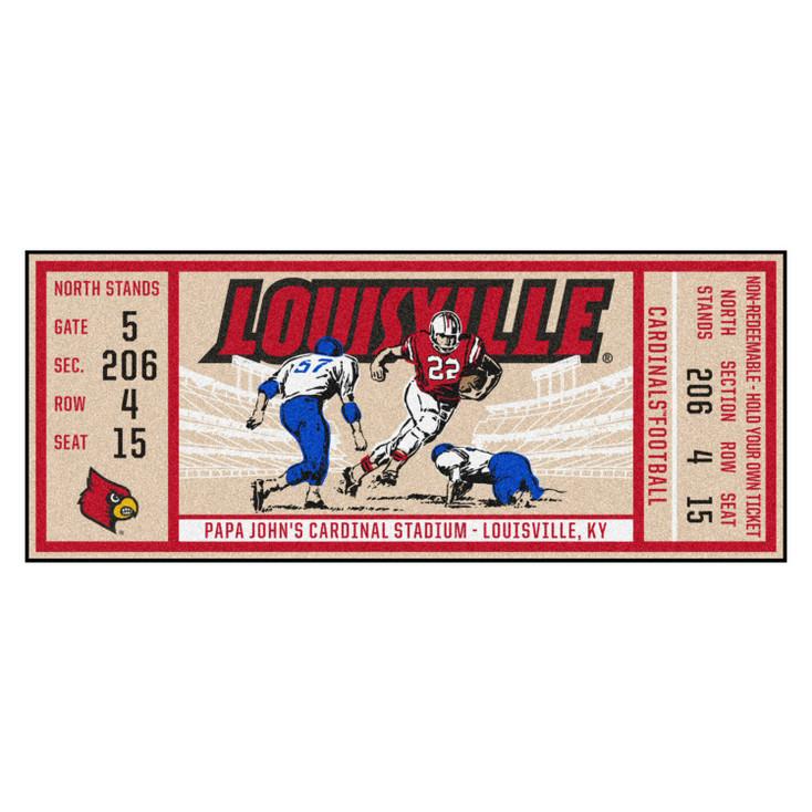 """30"""" x 72"""" University of Louisville Ticket Rectangle Runner Mat"""