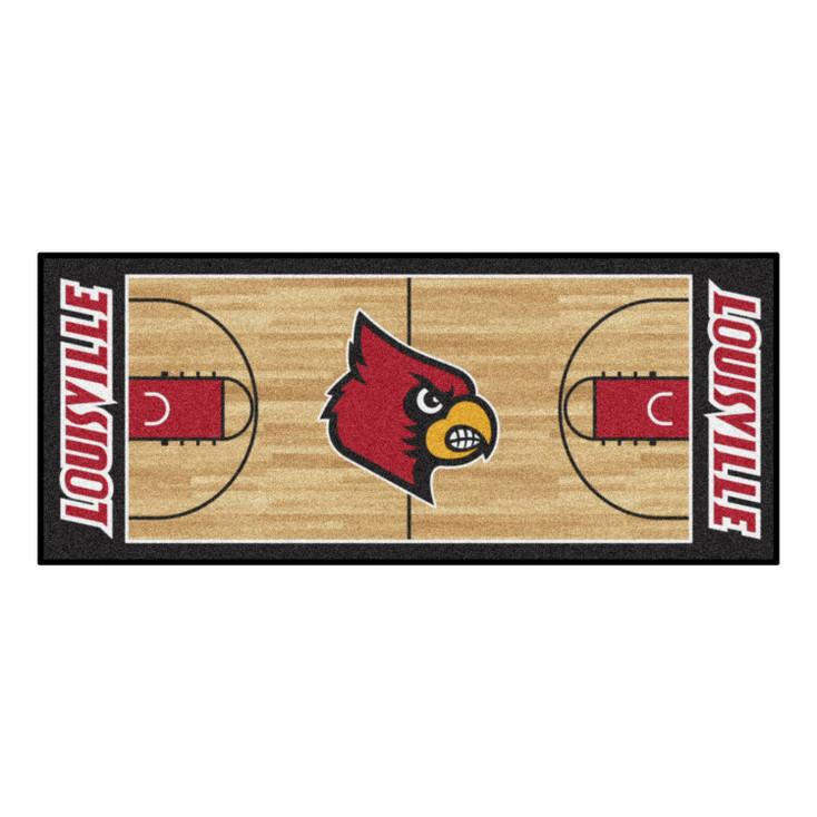 """30"""" x 72"""" University of Louisville NCAA Basketball Rectangle Runner Mat"""