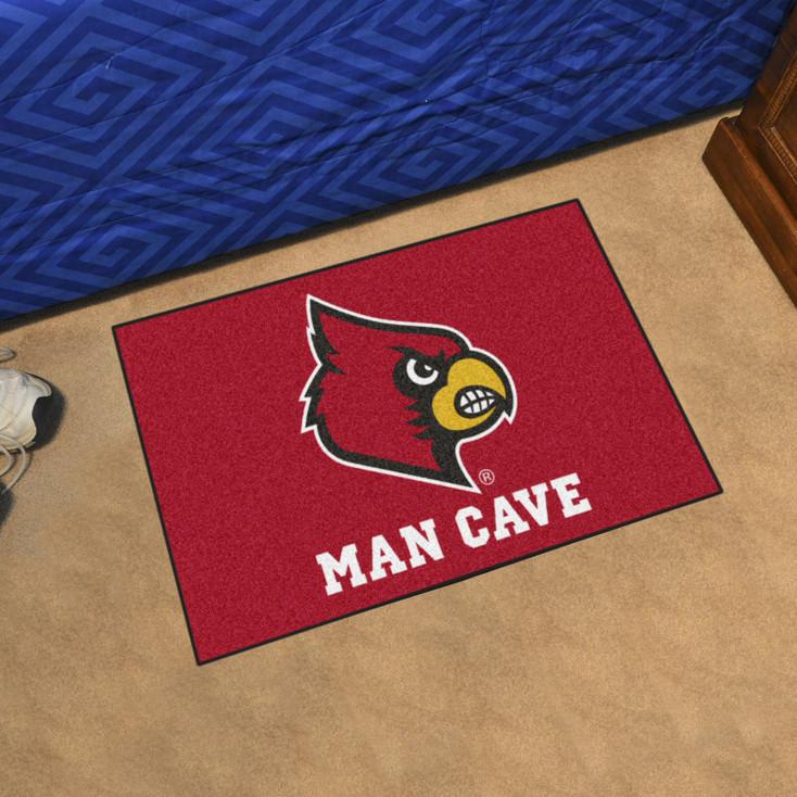"19"" x 30"" University of Louisville Man Cave Starter Red Rectangle Mat"