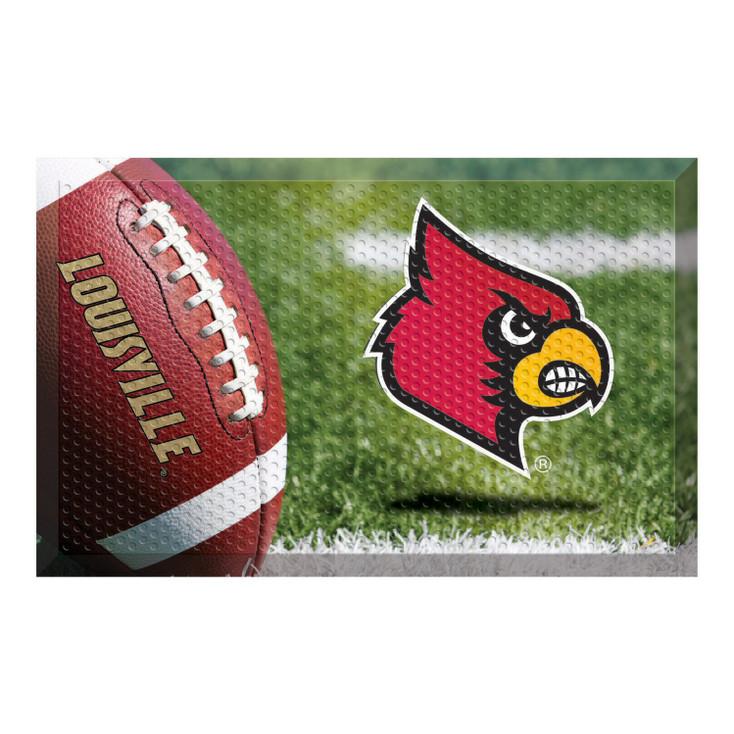 "19"" x 30"" University of Louisville Rectangle Scraper Mat - ""Cardinal"" Logo"