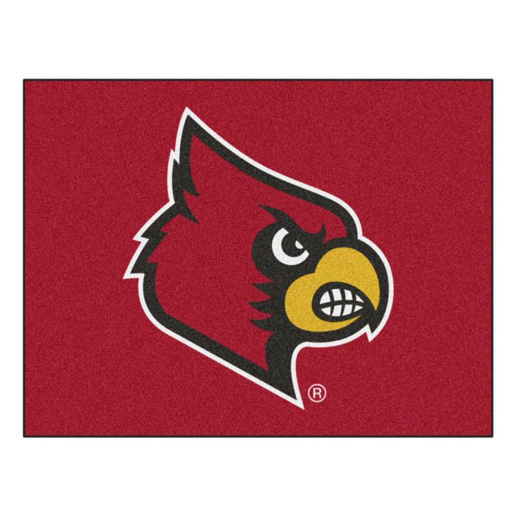 "33.75"" x 42.5"" University of Louisville All Star Red Rectangle Mat"