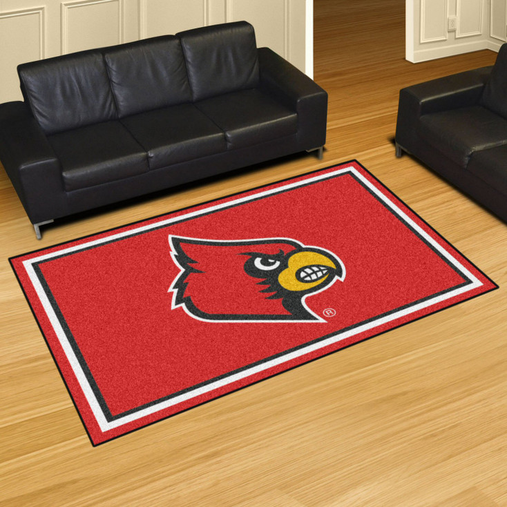 5' x 8' University of Louisville Red Rectangle Rug