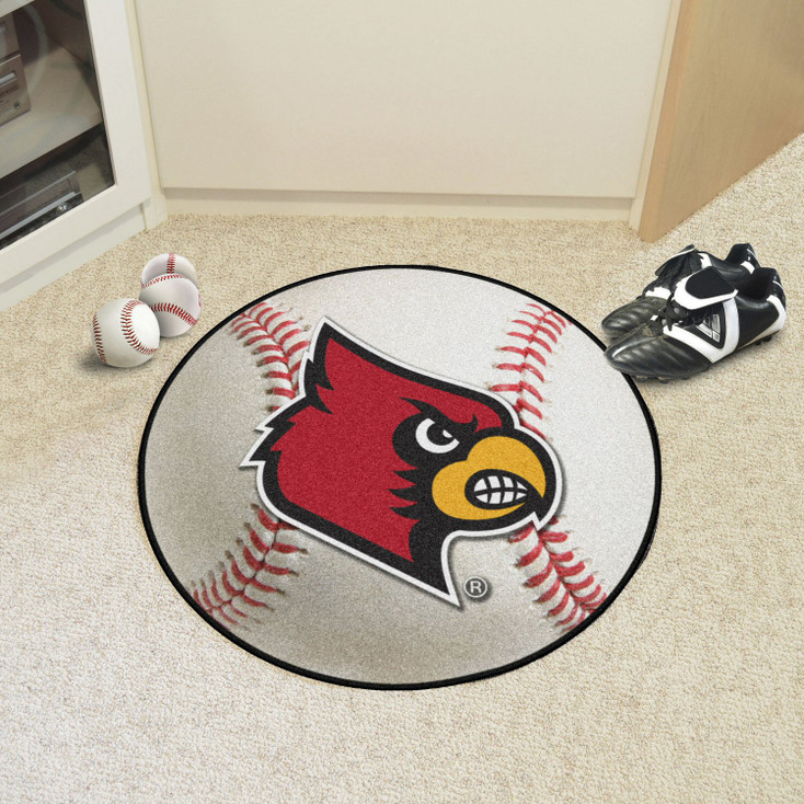 "27"" University of Louisville Baseball Style Round Mat"