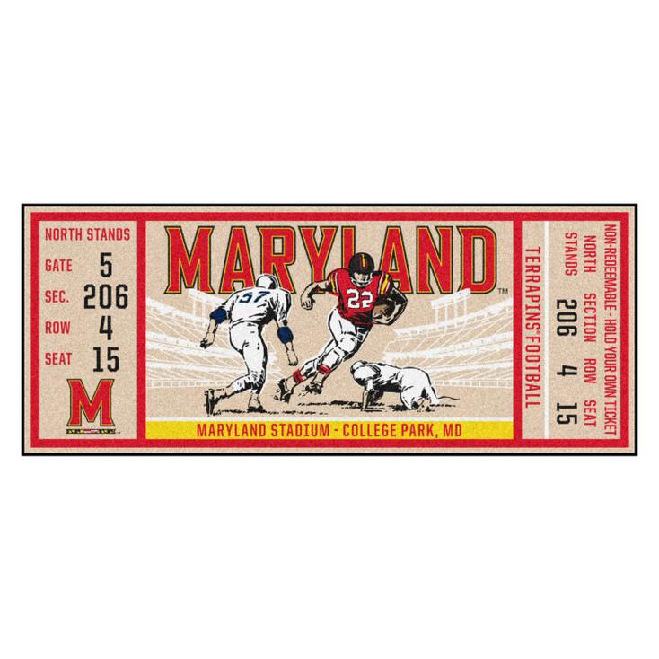 "30"" x 72"" University of Maryland Ticket Rectangle Runner Mat"