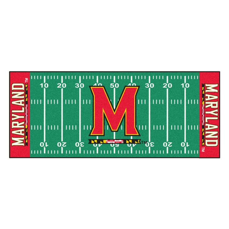 "30"" x 72"" University of Maryland Football Field Rectangle Runner Mat"