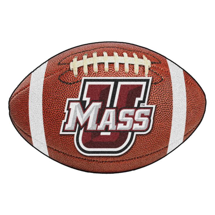 "20.5"" x 32.5"" University of Massachusetts Football Shape Mat"