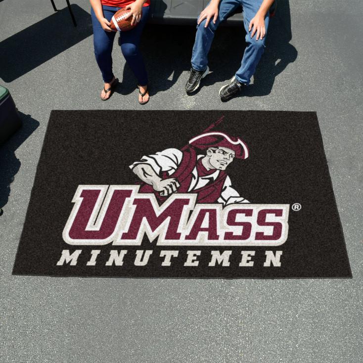 "59.5"" x 94.5"" University of Massachusetts Black Rectangle Ulti Mat"