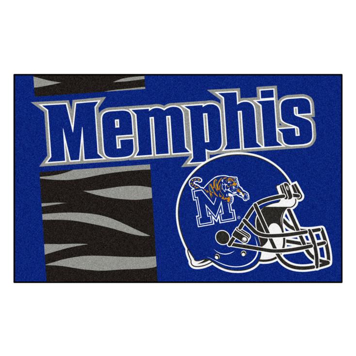 """19"""" x 30"""" University of Memphis Uniform Blue Rectangle Starter Mat"""