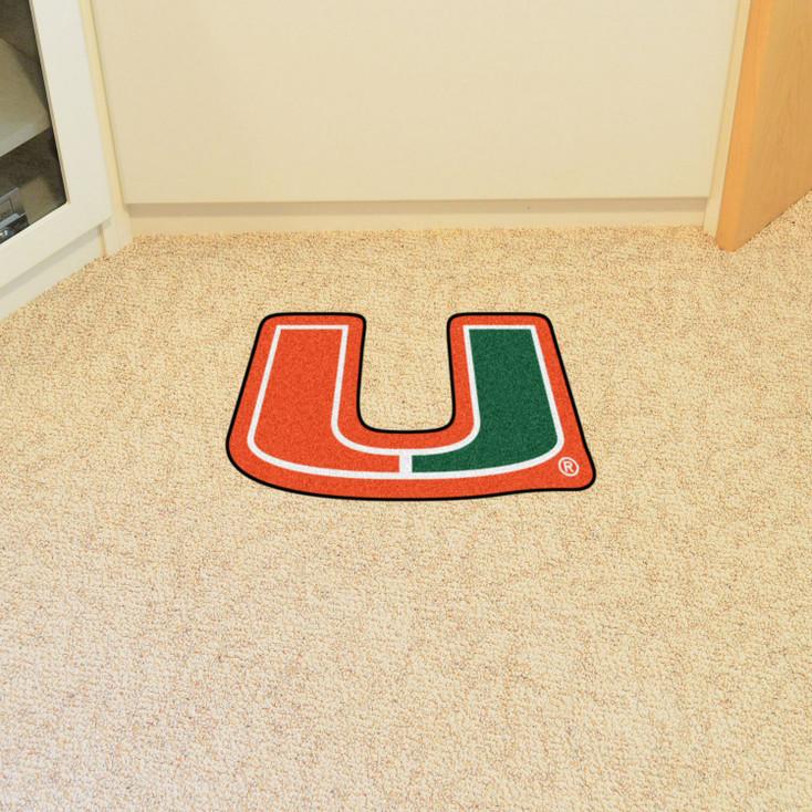 "University of Miami Mascot Mat - ""U"" Logo"